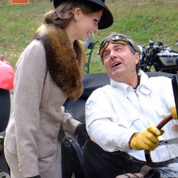 Pana Gradische zrakouského Bugatti Clubu tentokrát zaujala jedna zmodelek Salonu první republiky